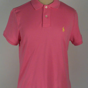 RL POLO PINK Short Sleeve CLASSIC FIT Collar Top S